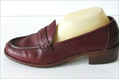 Minelli Mocassin Vintage all Leather Bordeaux T 41 Be