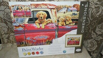Dimensions Paint Works Golden Rule Paint By Number W/Paint By Greg Gordana Nib