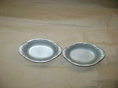 Pewter dish RWP The Wilton Co.  2 Oval shaped Dishes.