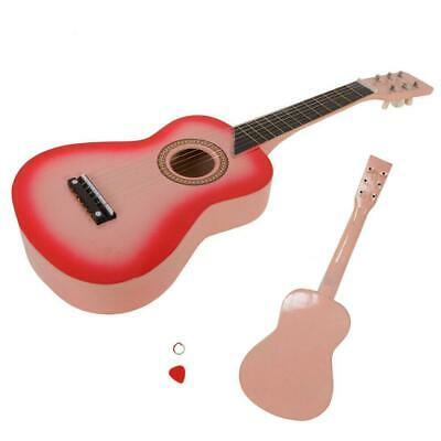 """New 25"""" Children Beginners Acoustic Guitar with Pick Kids Pink"""