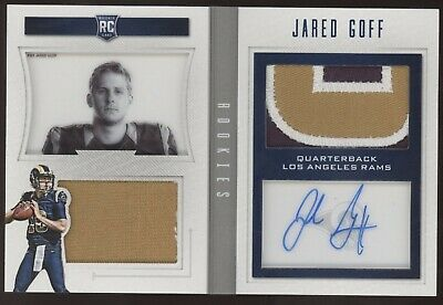 2016 Panini Playbook Jared Goff 3 Color Patch Booklet RC Auto /49