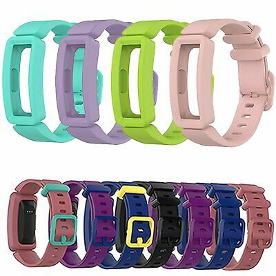 Colorful TPE Watch Band Wrist Strap Replacement  For Fitbit Ace2 Fitness Tracker