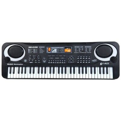 61 Keys Digital Music Electronic Keyboard Board Toy Gift Electric Piano Org V2B6