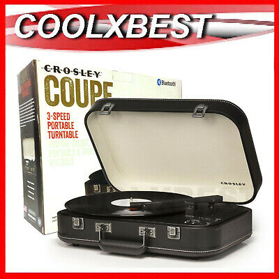 Crosley Coupe Black 3 Speed Turntable Bluetooth Pitch Control Retro Design (Rfb)