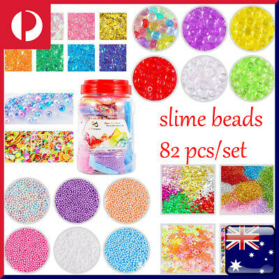 82Pcs Kit Set Slime Supplies Slime Beads Balls Charms Slices Children DIY Tools