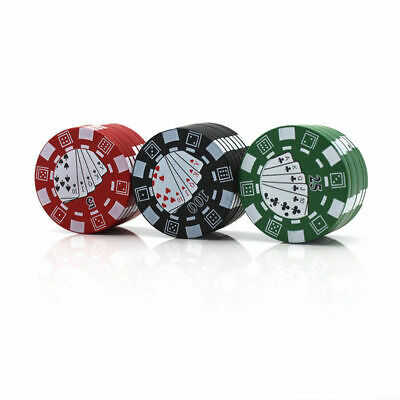 3-Layer Herb Spice Grinder Alloy Tobacco Smoke Seed Crusher Casino-Chip Shape