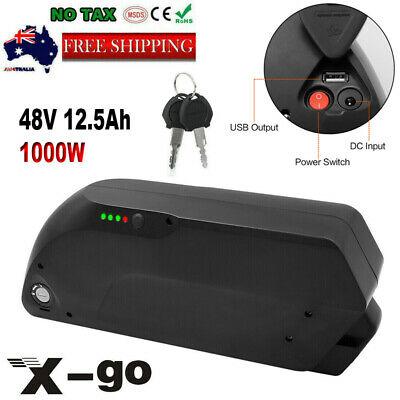 48V 12.5Ah 1000W Ebike Lithium Li-ion Battery for Electric Bicycles TIGER SHARK