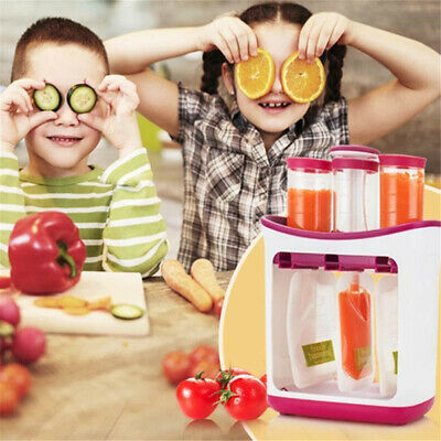 Fresh Food Squeezed Squeeze Station Baby Weaning Puree Reusable Pouches Maker AU