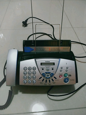 Brother FAX-837MCS Thermal Transfer Fax Machine  Handset Digital