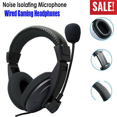 Gaming Headset Stereo Surround Headphone 3.5mm Wired With Mic For PC/PS4/xBOX BS