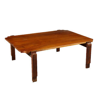 Coffee Table Rosewood Veneer Vintage Italy 1960s