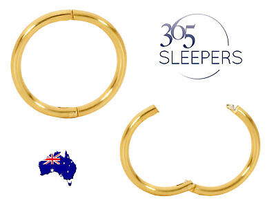 1 Pair 22ct Gold Plated Sterling Silver Sleeper Earrings - 18G