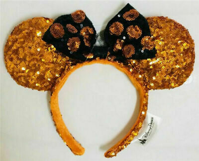 Disney Parks Minnie Mouse Halloween Sequin Mickey Ears Headband Birthday Gifts
