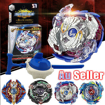 Fusion Rare Top Launcher Grip With 4D Rapidity Fight Master Metal Beyblade Set