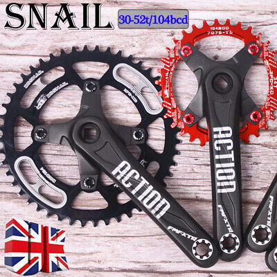 UK SNAIL 30-52t 104bcd Chainset Crank set MTB Road BMX Bike Sprocket Chainring