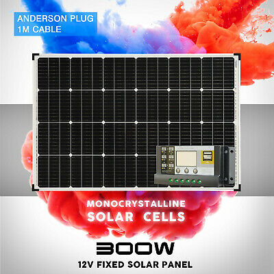 [15%OFF] 12V 250W Solar Panel Kit Mono Fixed Carava 20A Controller Charging USB