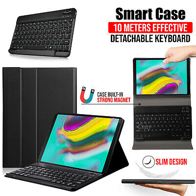 "Samsung Galaxy Tab S5E 10.5"" SM-T720 T725 Bluetooth Keyboard Leather Case Cover"