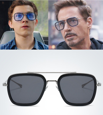 Spider-Man: Far From Home Avengers Tony Iron Man Sunglasses Peter Edith Glasses