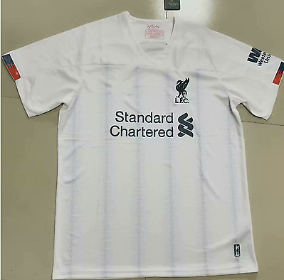 2019/2020 Liverpool White FC Away Football Jersey Shirt White Soccer Tee Top