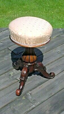 Antique Victorian, adjustable piano stool