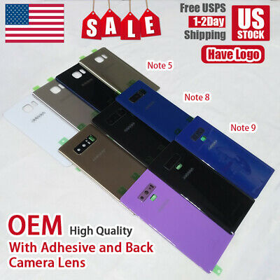 OEM Battery Back Door Glass Cover Camera Lens For Samsung Galaxy Note 5 8 9 US