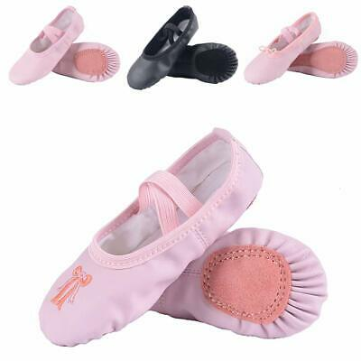 Ballet Slippers Revolution Dance wear Pink Full Sole Size 9.5M Style120 toddler