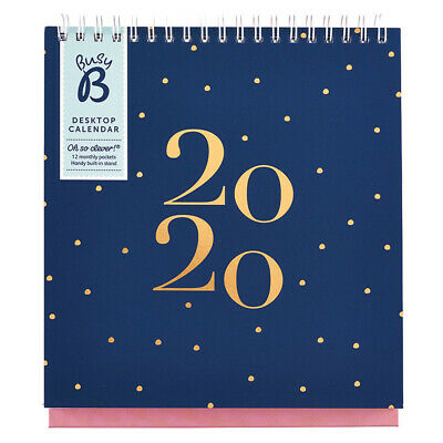 Busy B Desktop Calendar 2020 - Navy