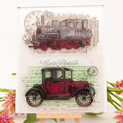 Retro Car Silicone Clear Stamp Transparent Rubber Stamps DIY Scrapbooking Craft