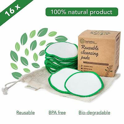 Reusable Cleaning  Facewash  Makeup Round Removers Soft 16  Cotton & Bamboo Pads