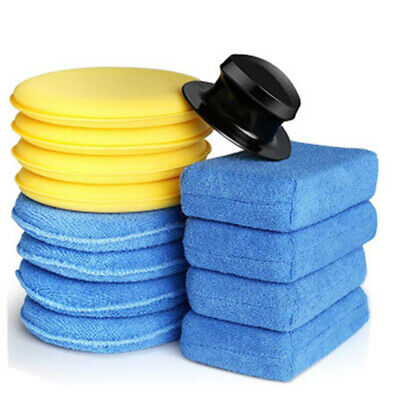 8X Car Waxing Polish Microfiber Foam Sponge Applicator Cleaning Detailing Pads