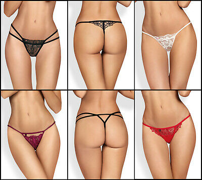 OBSESSIVE Luxury Super Soft Decorative Thongs - 5 Styles Available