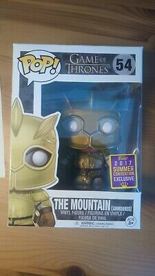 The Mountain (Armored) - Game of Thrones- SDCC 2017 Exclusive Funko Pop - RARE