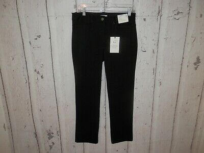 NEW NY & Co Women's Size 8 Petite Black Mid Rise Slim City Knit Luxe Pants 2688