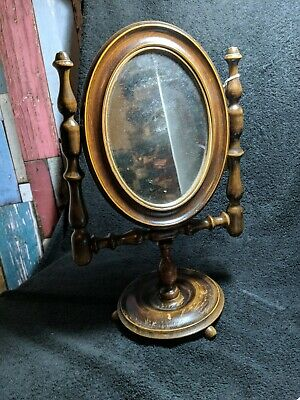 Antique  dressing table small swing mirror hight 37cm top till bottom