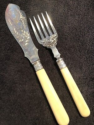 Beautiful Victorian Silver Plated Fish Servers