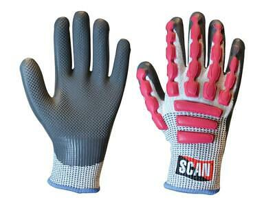 Scan SCAGLOAIL Anti-Impact Latex Cut 5 Gloves - Large (Size 9)