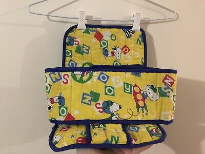 Snoopy & Hello Kitty Trolley Seat Belt Velcro Trolly Buddy Vintage Home Made