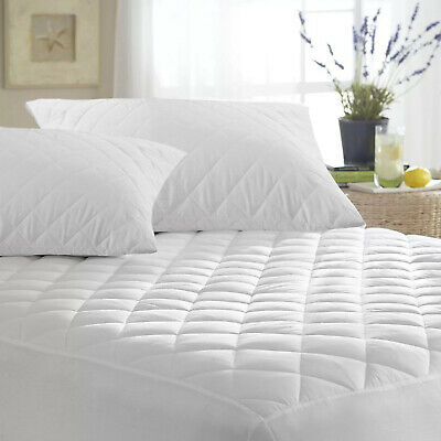 Extra Deep Quilted Mattress Topper Protector Fitted Bed Cover Single Double King