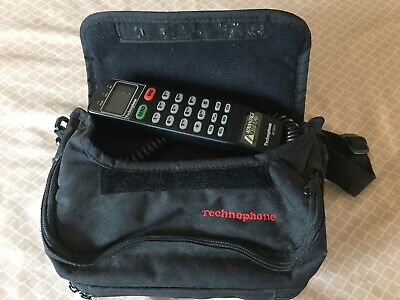 "Vintage Technophone Mobile Bag Car Phone ""Working"" 80s/90s Movie Prop"