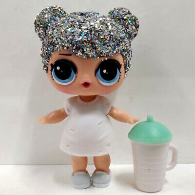 lol doll Big Sister Serie Glitter Silver Hair White Dress Kids Birthday Gift