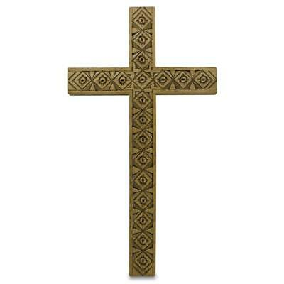 Ukrainian Carved Wooden Wall Cross 5.25 Inches