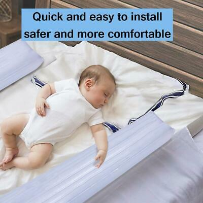 2PCS Bed Rails Inflatable Bumpers Toddlers Baby Safety Non Slip Bed Guardrail