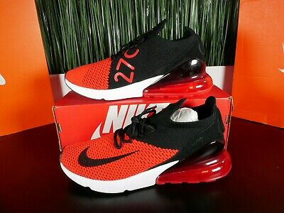 Nike Air Max 270 Flyknit Red White Athletic Shoes AO1023-601 Size 8.5-12.5