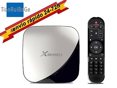 TV BOX X88 pro Android 9.0 RK3318 Quad Core Wifi 4K HDR USB 3.0 3D Caja de TV