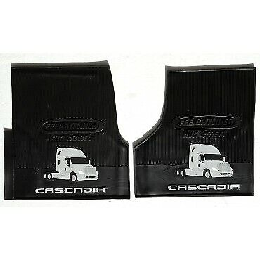 Freightliner Cascadia Rubber All-Weather OEM Floor Mats W/LOGO fits 2008-2016 -2