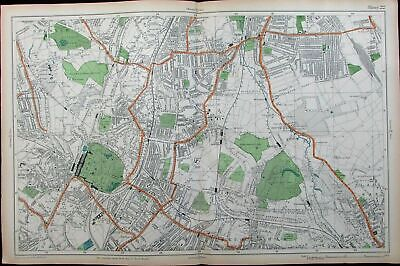 London Sydenham Crystal Palace Dulwich parks golf links c.1911 vintage city plan