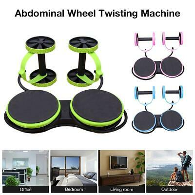 Abdominal Power Roll Arm Trainer Waist Slim Exercise Core Double Wheel Fitness