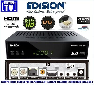 Decoder Tivu'sat Compatibile 4K Ultra HD Satellitare HiTube con Card 4k