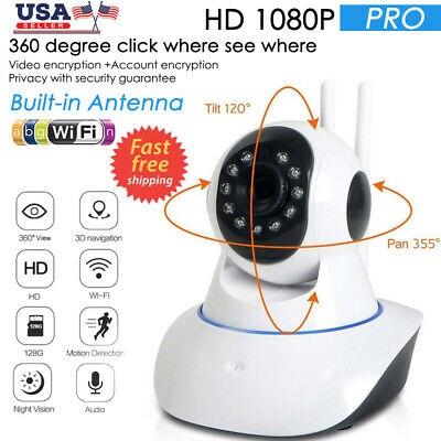 1080P HD Smart Home Wireless Security IP Camera Wi-Fi IR Night Baby Monitor 360°