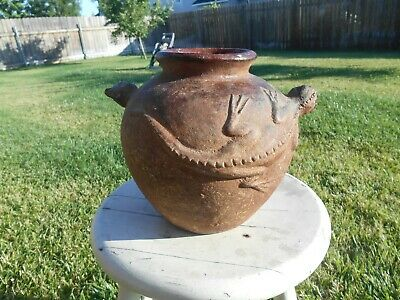 Old  Water Pot Vessel With Lizard Handles